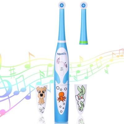 Детская электрическая зубная щётка BabySmile Kids (2 сменные насадки для детей, 8800 оборотов в мин., музыкальный таймер на 4 мелодии, эргономичная ручка)
