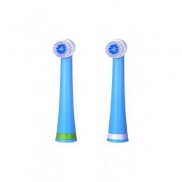 Комплект сменных насадок для электрической зубной щетки BabySmile Kids (две сменные насадки)